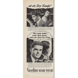 """1952 Vaseline Ad """"Dry Scalp"""""""
