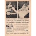 "1953 Pepperell Fabrics Ad ""No Wrinkles"""