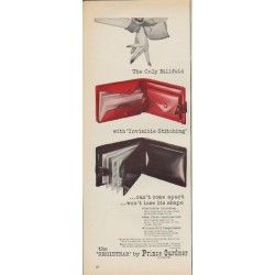 "1952 Prince Gardner Ad ""The Only Billfold"""