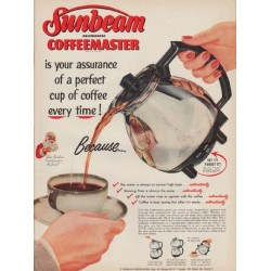 "1952 Sunbeam Ad ""perfect cup of coffee"""