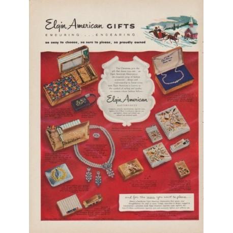 "1952 Elgin American Ad ""Gifts"""