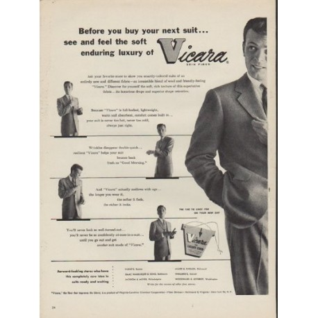 "1952 Vicara Ad ""Before you buy"""