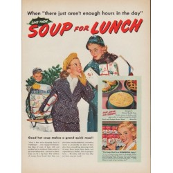 "1952 Campbell's Soup Ad ""Soup for Lunch"""