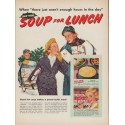 """1952 Campbell's Soup Ad """"Soup for Lunch"""""""