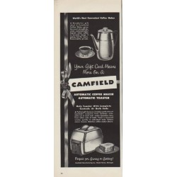 "1952 Camfield Ad ""Most Convenient Coffee Maker"""