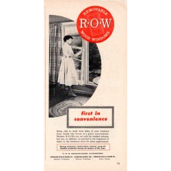 "1953 R*O*W Windows Ad ""First In Convenience"""
