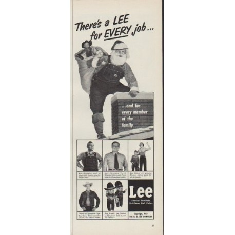 "1952 Lee Jeans Ad ""for Every job"""