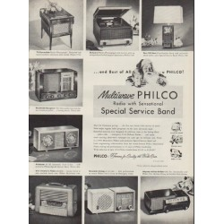 "1952 Philco Radio Ad ""Best of All"""