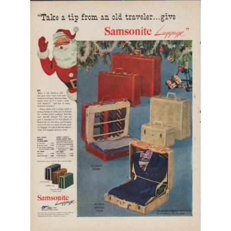 "1952 Samsonite Ad ""Take a tip"""