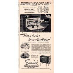 "1953 Servel Ad ""Electric Wonderbar"""