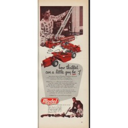 """1952 Model Toys Ad """"how thrilled"""""""