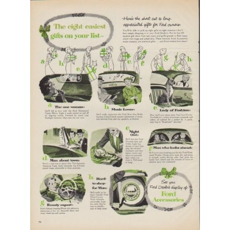 "1952 Ford Ad ""The eight easiest gifts"""