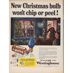 "1952 Westinghouse Ad ""New Christmas bulb"""