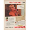 "1952 Lane Cedar Chests Ad ""This Christmas"""
