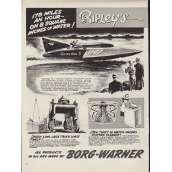 "1952 Borg-Warner Ad ""178 Miles an Hour"""