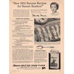 "1953 Sperry Flour Ad ""Success Recipes"""