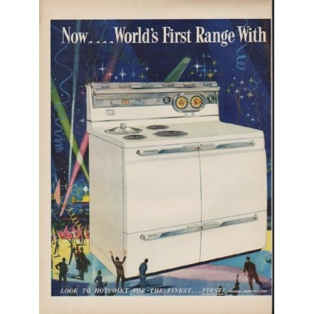 """1952 Hotpoint Ad """"Instant Heat"""""""
