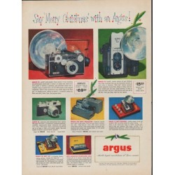 "1952 Argus Ad ""Say ""Merry Christmas"""""
