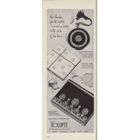 """1952 Volupte Ad """"a world of beauty"""""""