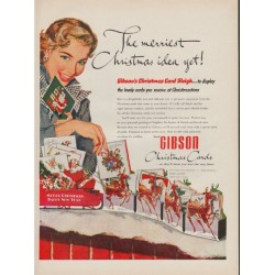 "1952 Gibson Art Company Ad ""merriest Christmas idea"""
