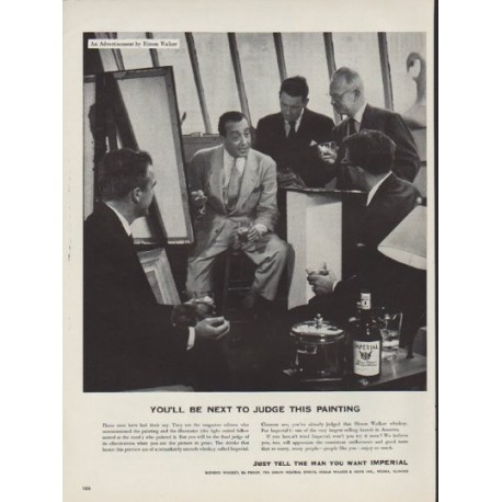 "1952 Imperial Whiskey Ad ""Next To Judge"""
