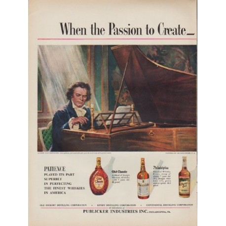 "1952 Publicker Industries Ad ""Passion to Create"""