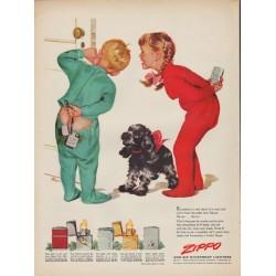 "1952 Zippo Ad ""Eavesdrop"""