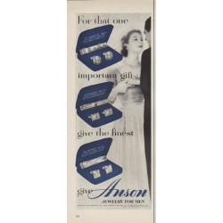 "1952 Anson Jewelry Ad ""For that one"""