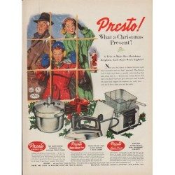 "1952 Presto Cooker Ad ""What a Christmas Present"""