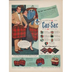 "1952 Atlantic Products Corporation Ad ""Car-Sac"""