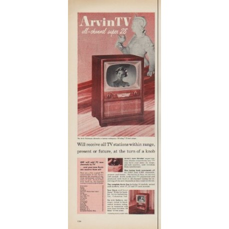 "1952 Arvin TV Ad ""all-channel super 28"""