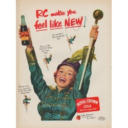 "1952 Royal Crown Cola Ad ""feel ... NEW"""