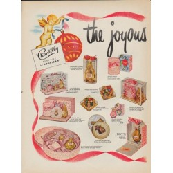 "1952 Houbigant Ad ""the joyous air of Christmas"""