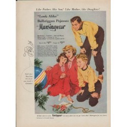 "1952 Munsingwear Ad ""Like Father, like Son"""
