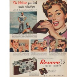 "1952 Revere Camera Ad ""lifelike"""