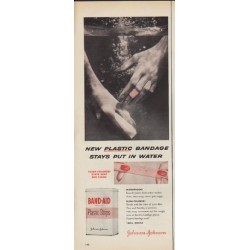 "1952 Johnson & Johnson Ad ""New Plastic"""