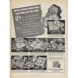 "1952 Milton Bradley Ad ""Make Christmas Last All Year"""