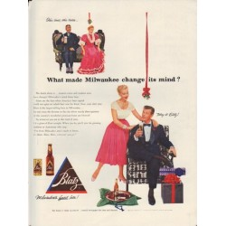 "1952 Blatz Beer Ad ""change its mind"""
