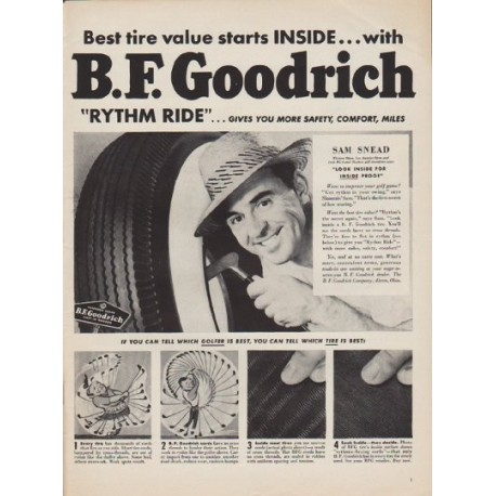 "1950 B.F. Goodrich Ad ""Rythm Ride"""