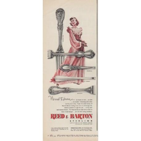 "1950 Reed & Barton Ad ""No need to dream"""