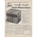 "1950 The Classics Club Ad ""Charles Dickens Library"""