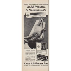 "1950 Ansco Film Ad ""All Weather"""
