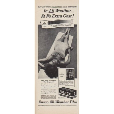 """1950 Ansco Film Ad """"All Weather"""""""