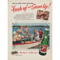 """1950 7-Up Ad """"For All Good Times"""""""