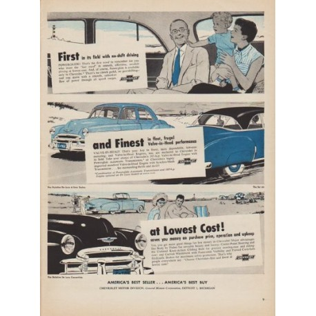 "1950 Chevrolet Ad ""First in its field"""