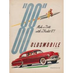 "1950 Oldsmobile Ad ""Make a Date"""