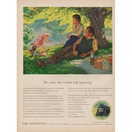 "1950 The Prudential Ad ""The picnic"""