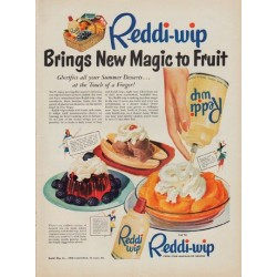 "1950 Reddi-wip Ad ""New Magic"""