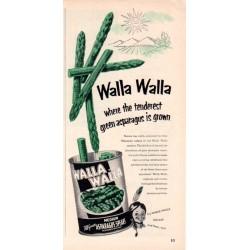 "1953 Walla Walla Ad ""Green Asparagus"""