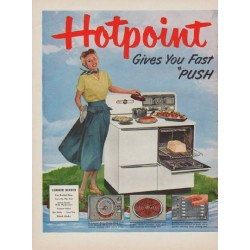 "1950 Hotpoint Ad ""Summer Dinner"""
